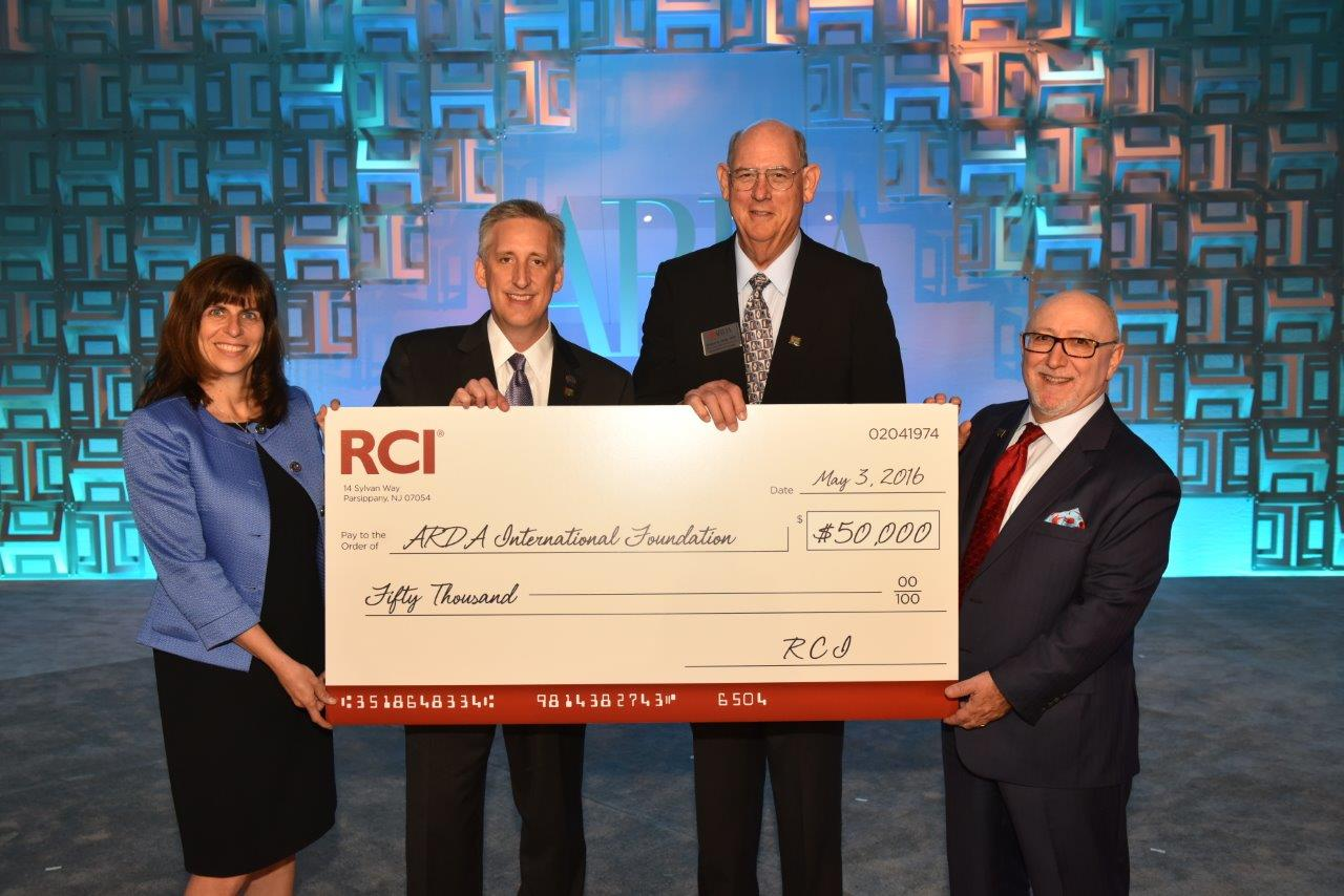 RCI donates $50,000 to the ARDA International Foundation