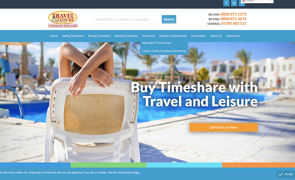 Travel & Leisure Group updates website